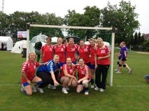 Senioren damesteam Borhave tijdens Stormvogelstoernooi 2012